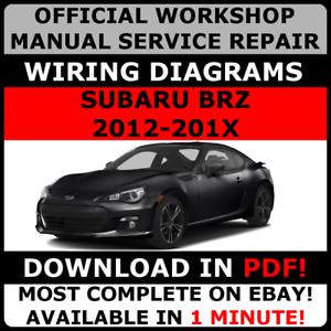 Servizio ufficiale di Officina Riparazione Manuale Per Subaru ATLANTIC 2012-2017 Cablaggio #