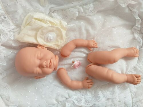 Bambola morbida realistici KIT Elsa arto COMPLETO 20in a disco corpo MANICHINO rosa