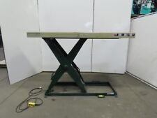 Southworth Ls2 48 2000lb Hydraulic Scissor Lift 84x30 Table 115v Single Phase