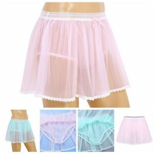 Sexy-Sissy-Men-039-s-Lingerie-Underwear-Skirt-Panties-Briefs-Thong-Bikini-Underpants