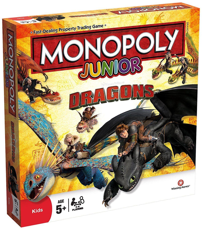 Drachen monopol junior brettspiel neu versiegelt