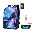 Galaxy School Bag Canvas Backpack for Teen Teenage Girls Kids Unisex Collection