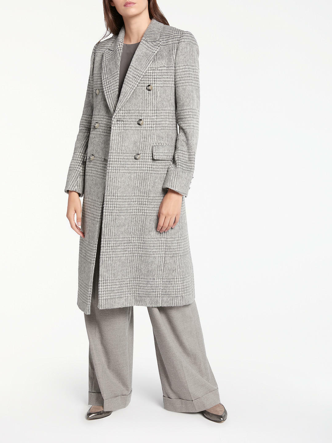 New Modern Rarity Eudon Choi Drawn Double Breasted Coat, Grey, Size 12, RRP