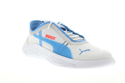 Puma Replicat X Pirelli V2 30646702 Mens White Lace Up Athletic Racing Shoes | eBay