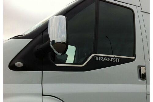 FORD TRANSIT 2000-2013 Rétroviseur Chrome Couvre Poignée de porte feu arrière couvre