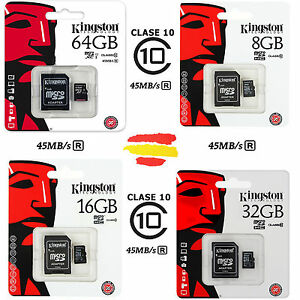TARJETA-MEMORIA-KINGSTON-CLASE-10-MICROSD-MICRO-SD-GB-16-32-64-16GB-32GB-64GB
