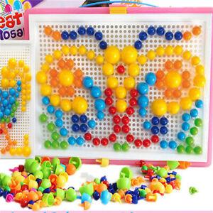 Kids-DIY-Mushroom-Nails-Jigsaw-Peg-Board-Game-Preschool-Educational-Puzzle-Toys