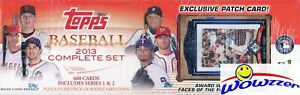 2013-Topps-Baseball-666-Card-Complete-Factory-Set-2-Mike-Trout-EXCLUSIVE-PATCH
