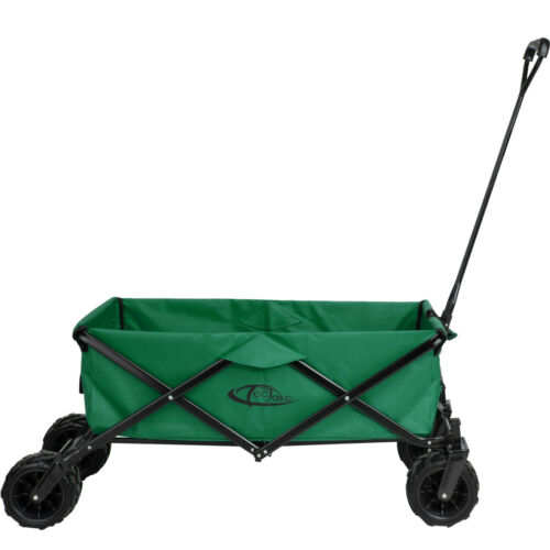 Bollerwagen Faltbar Handwagen Transportwagen Gerätewagen Klappbar Grün Plane