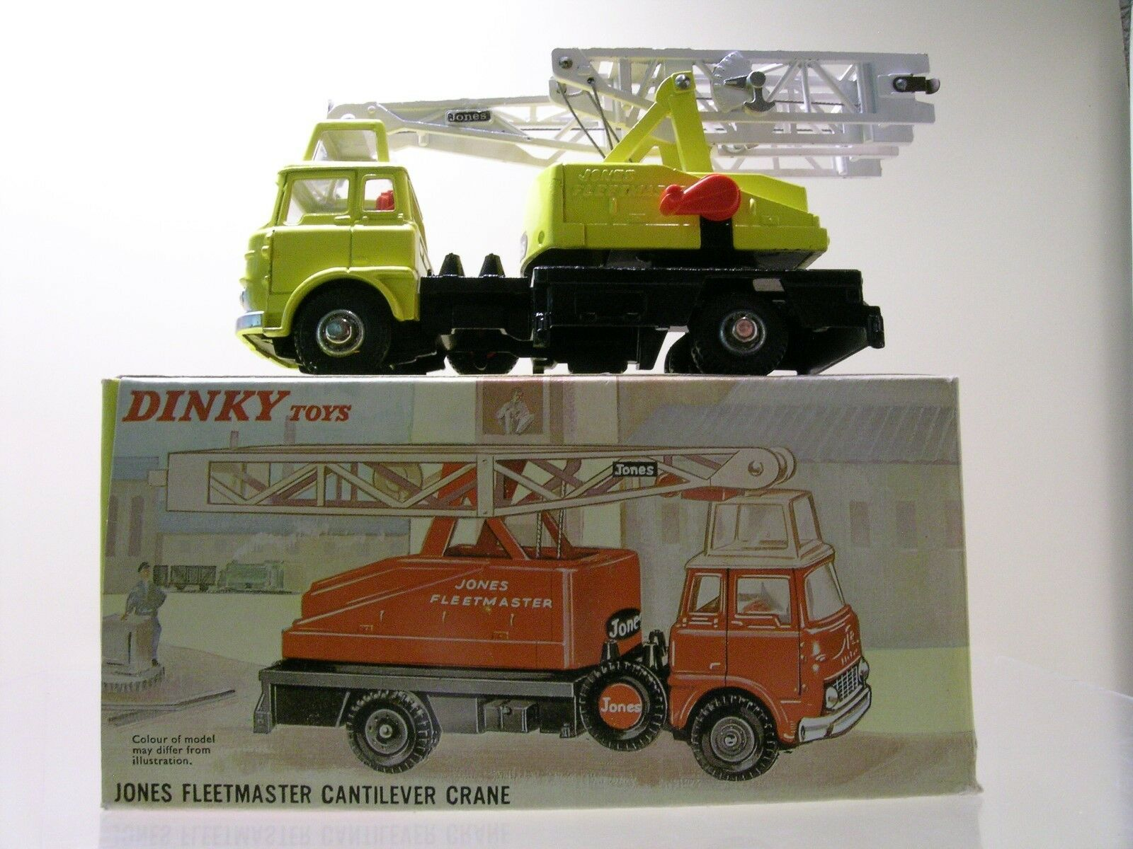 DINKY TOYS UK No.970 BEDFORD JONES FLEETM.CANTILEVER CRANE YELLOW 1967+ BOX 1 43