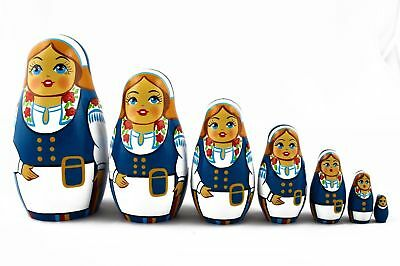 Matryoshka Matrioshka Russian Nesting Doll Babushka Belarusian Girl Set 7 Pieces