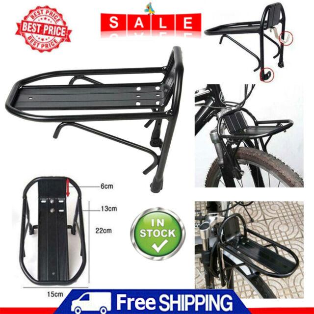 Aluminum Alloy Bicycle Bike Front Rack Luggage Shelf Mount Panniers Bag Bracket