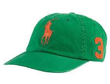 Polo Ralph Lauren Mens Chino Adjustable Ball Cap Hat Big Pony VARIETY COLORS