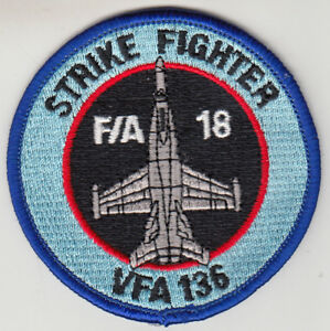 """US Navy VFA-136 Strike Fighter Squadron 136 /"""" Knighthawks /"""" Patch"""