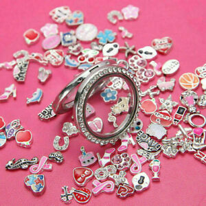 30Pcs-Mode-Mix-Charms-Partien-Floating-fuer-Living-Memory-Medaillon-Armband-O4Q0