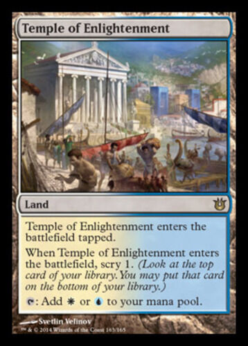 Temple of Enlightenment Light Play Russian Born of the Gods MTG
