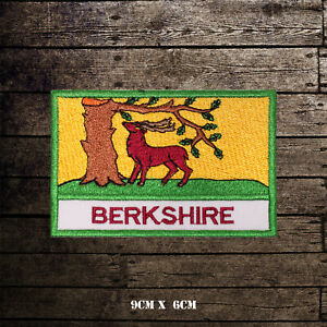 BERKSHIRE-Flag-With-Name-Embroidered-Iron-On-Sew-On-Patch-Badge-For-Clothes-Etc