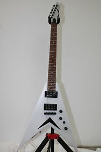 Bolt-on Metallic Silver Dean V Dave Mustaine Guitar