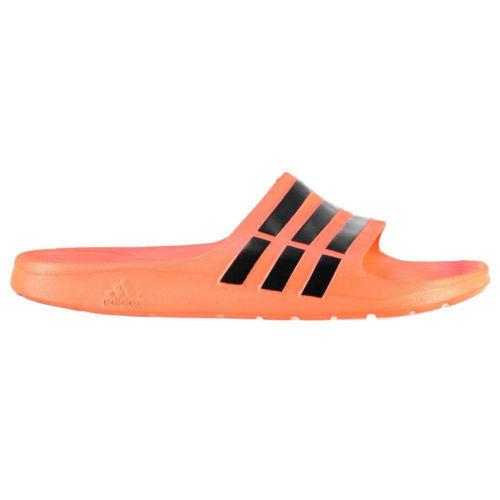 56f1120d61efde adidas Mens Duramo Slide UK Size 8 9 10 11 Orange Sandals Flip Flops Slides  UK 11 for sale online
