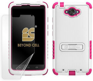 WHITE-PINK-TRI-SHIELD-SKIN-HARD-CASE-COVER-STAND-FOR-MOTOROLA-DROID-TURBO-XT1254