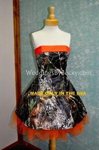 New camo wedding dress custom made in the usa ebay for Usa made wedding dresses