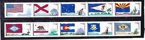 US-Scott-4273-4282-42c-Flags-of-Our-Nation-Set-1-1-Strip-PN10-MNH-Coil-Stamps