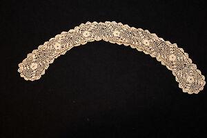 Antiguedad-Victoriano-Eduardiano-Irlandes-Encaje-Cuello-43-2cm