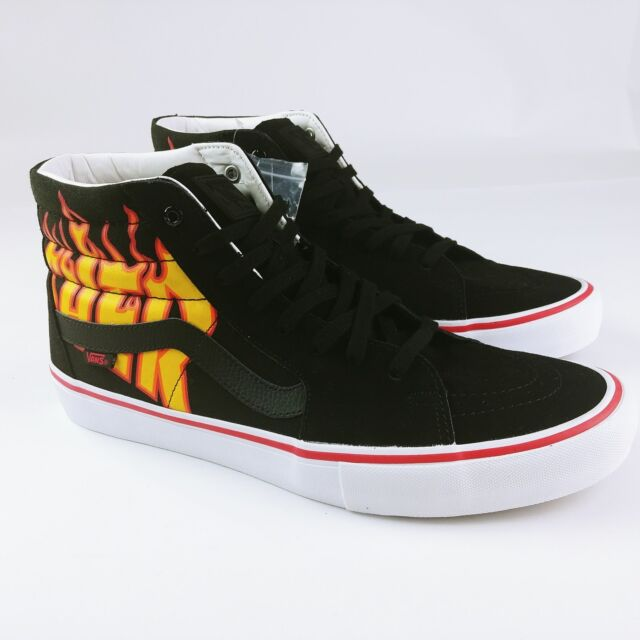 3d50ce74a39 Vans Sk8-hi Pro Thrasher Black Flame Skate Shoes Rare Ltd Sz 13 Mens New