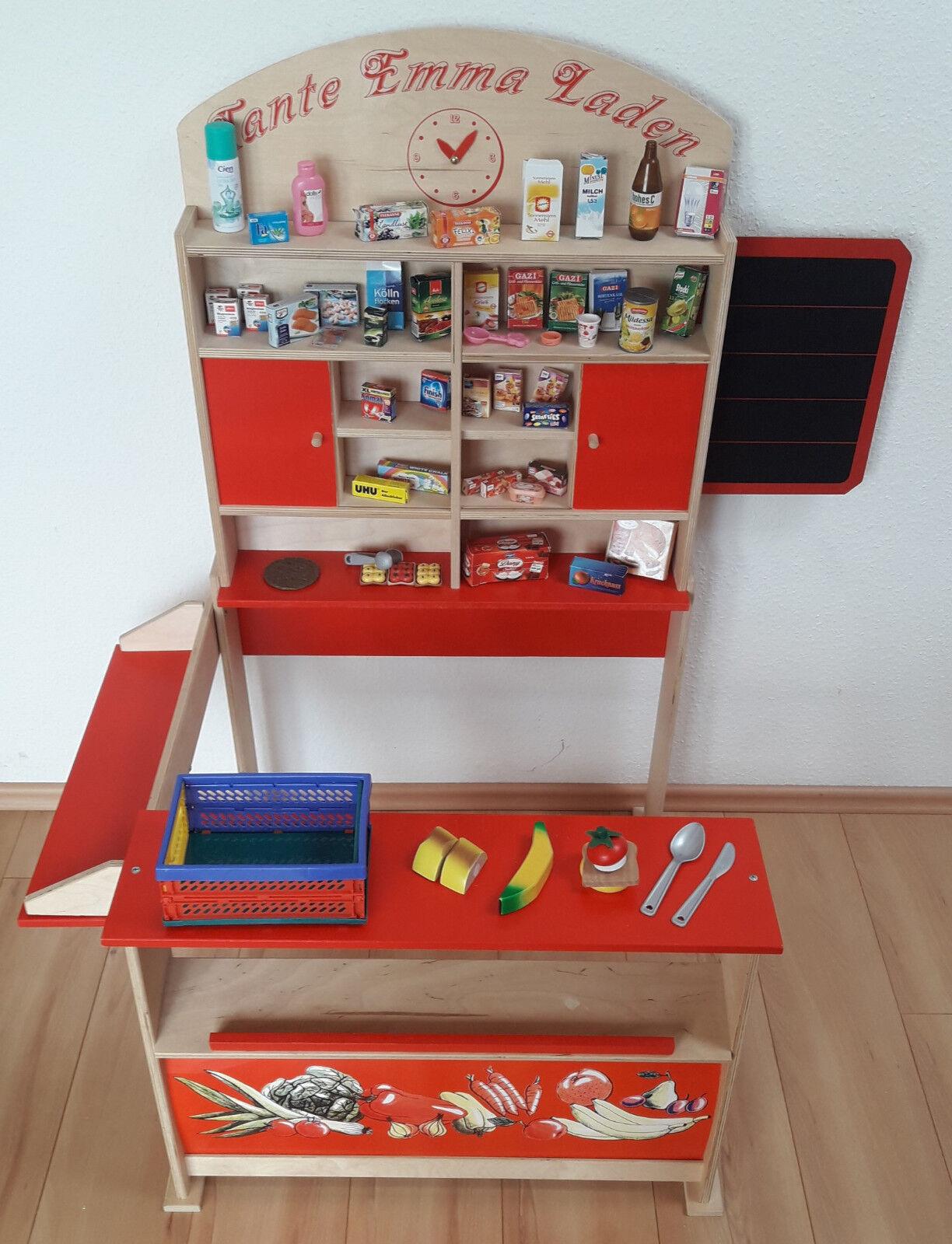 Kaufladen Tante Emma-Laden aus Holz mit Zubehör  | Die erste Reihe von umfassenden Spezifikationen für Kunden