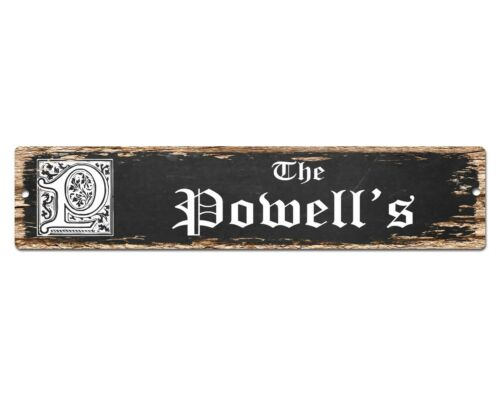 SP0697 The POWELL/'S Family name Sign Bar Store Shop Cafe Home Chic Decor Gift
