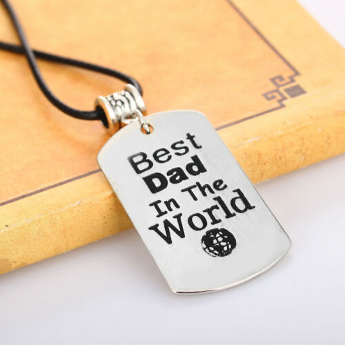 Gifts For Dad Fathers Day Present For Daddy Birthday Gift PAPA Necklace Keyring