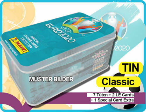 Panini Adrenalyn XL UEFA Euro em 2020 Classic Mega Tin box Mini Tin Limited