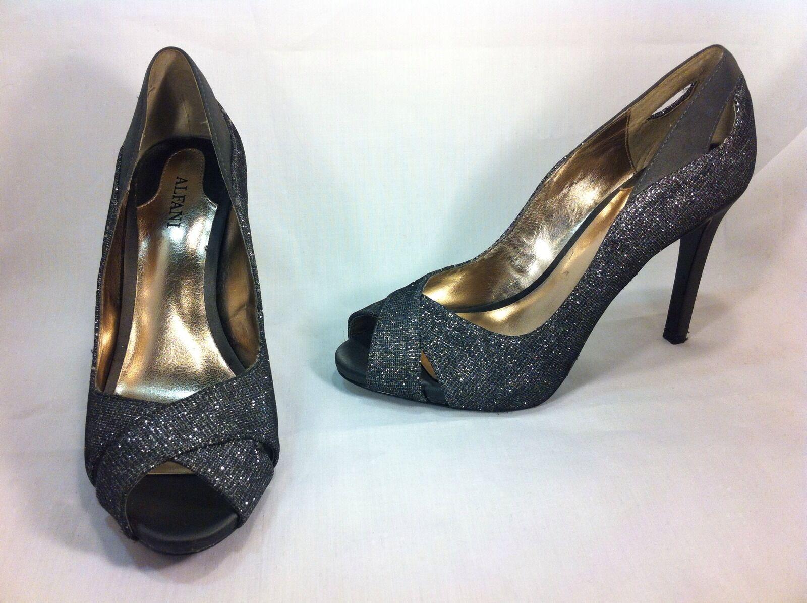 Alfani Lyrra Women Toe Shoes Silver Pumps Open Toe Women Sz 5 M 2fab8e