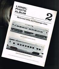 vintage LIONEL Photo Album #2 Pictorial Review w/ $ Prices:Pass.Cars,Motor Units