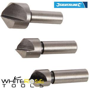 5pcs HSS 5//6//8//10//12 Countersink Chamfer Drill Bit Set Pilot Hole Woodworking