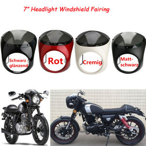 7-034-Scheinwerfermaske-Lampenmaske-Lampen-Verkleidung-mit-Windshild-Fuer-Harley