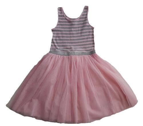 GAP Girls PINK GREY Tulle Mesh Tutu Skirt Stripe Dress Ballet 12-16y £22.99