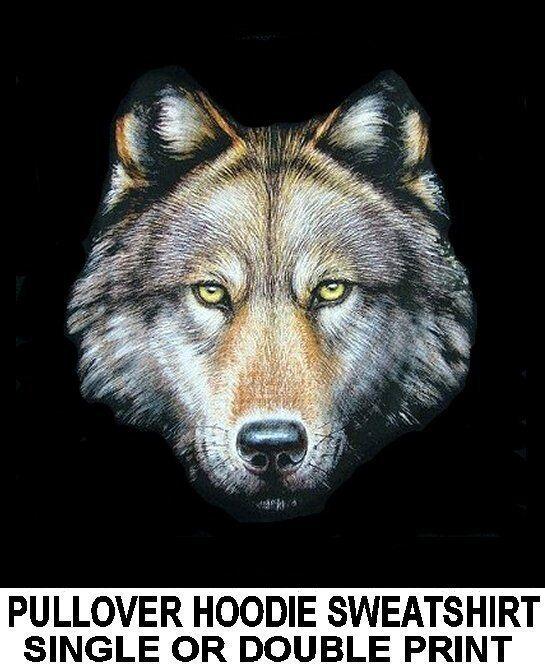GORGEOUS BEAUTIFUL WILD WOLF WOLFMAN WEREWOLF PULLOVER HOODIE SWEATSHIRT WS53