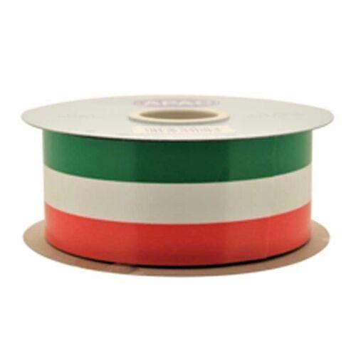 Irlandés Irlanda Cinta de poliéster de color rojo blanco y verde 50mm Boda Fiesta