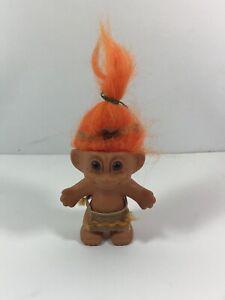 Russ-TROLL-DOLL-Thanksgiving-Vintage-Native-INDIAN-Figure-Costume-6-Orange-Hair