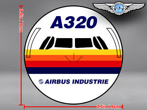 AIRBUS-INDUSTRIE-A320-A-320-FRONT-VIEW-DECAL-STICKER