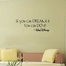 Inspiring Quotes Wall Stickers Home Art Decor Decal Mural For Kids Rooms