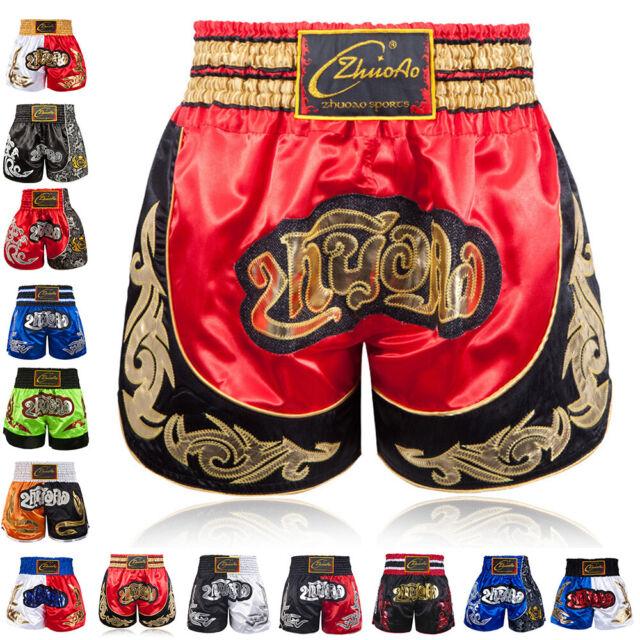 New Classic Muay Thai Fight Shorts MMA Grappling Kick Boxing Trunks Martial Arts