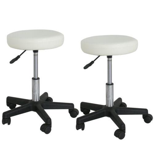 LOTS 2 Adjustable Height Tattoo Salon Stool Rolling Chair Facial Massage Office Health & Beauty