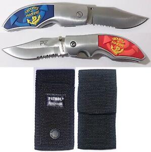 Couteau-en-acier-440-TROUPES-DE-MARINE-TDM-en-3D-etui-Housse-de-protection
