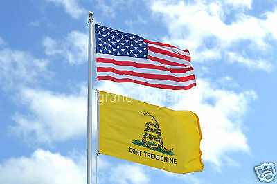 LOT 3' X 5' U.S.  AMERICAN & US  GADSDEN DONT TREAD ON ME TEA PARTY  FLAG 3X5