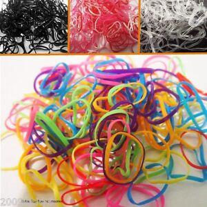 Image is loading 250-Pack-Bands-Rubber-Hair-Elastics-Bobble-Braids- acde79c6b10