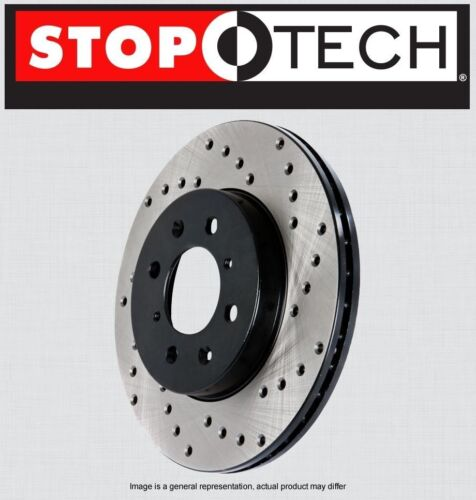Stoptech SportStop Cross Drilled Brake Rotors STCDR62113 LEFT /& RIGHT REAR