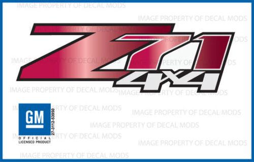 GRRUBY Z71 4x4 GMC Sierra 2007-2013 Decals Stickers Fade Red Ruby set of 2