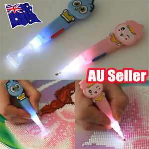 5D Painting Diamond Stitch Drawing Pen with LED Light Rhinestone Sticky Tools EA